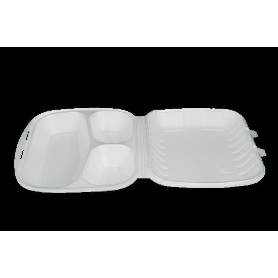 menu box 3-dzielny biały H